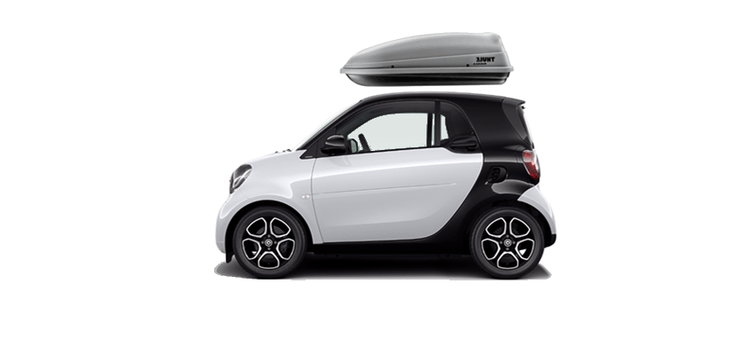 Thule Sidekick 682 On Smart Fortwo 54 X 15 5 25 In 8 Cu Rooftop Cargo Box With Cubic Feet Of Storage Ideal For Carrying Camping Gear And Golf Clubs