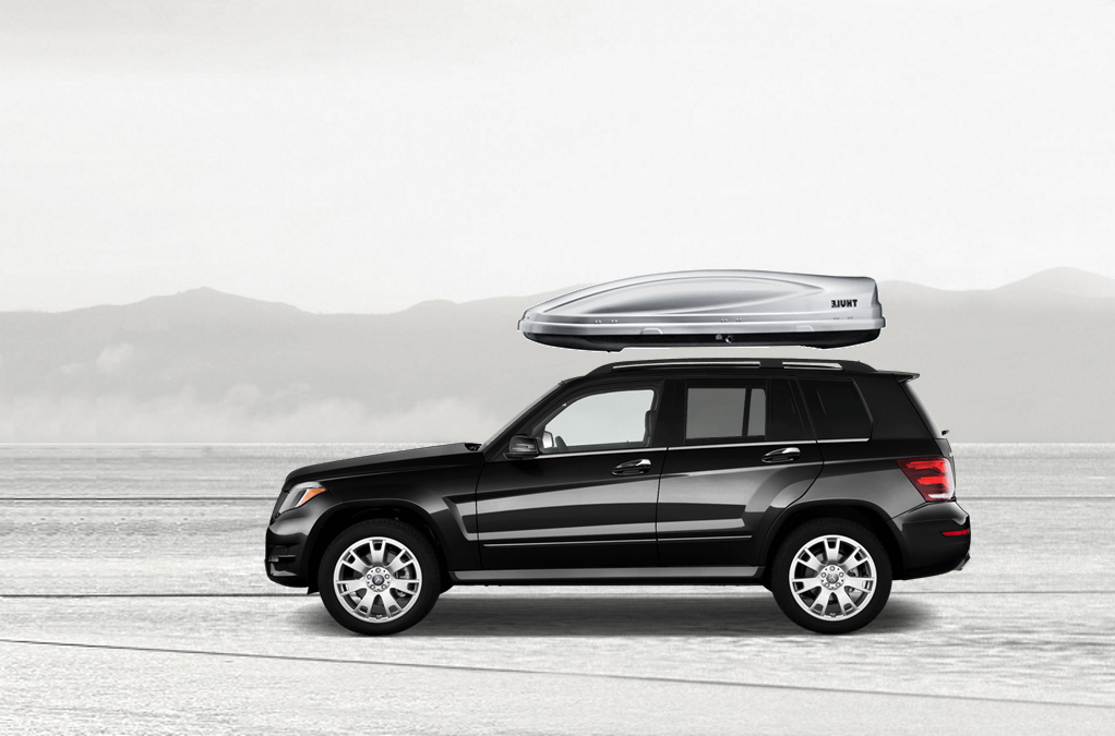 Mercedes glk rooftop cargo box for Mercedes benz box suv